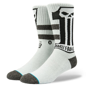 Harley-Davidson® Stance Mens Dark Custom Crew Height Riding Socks Accessories