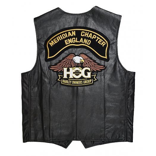 H.o.g.® Mens Meridian Chapter Leather Vest Vests
