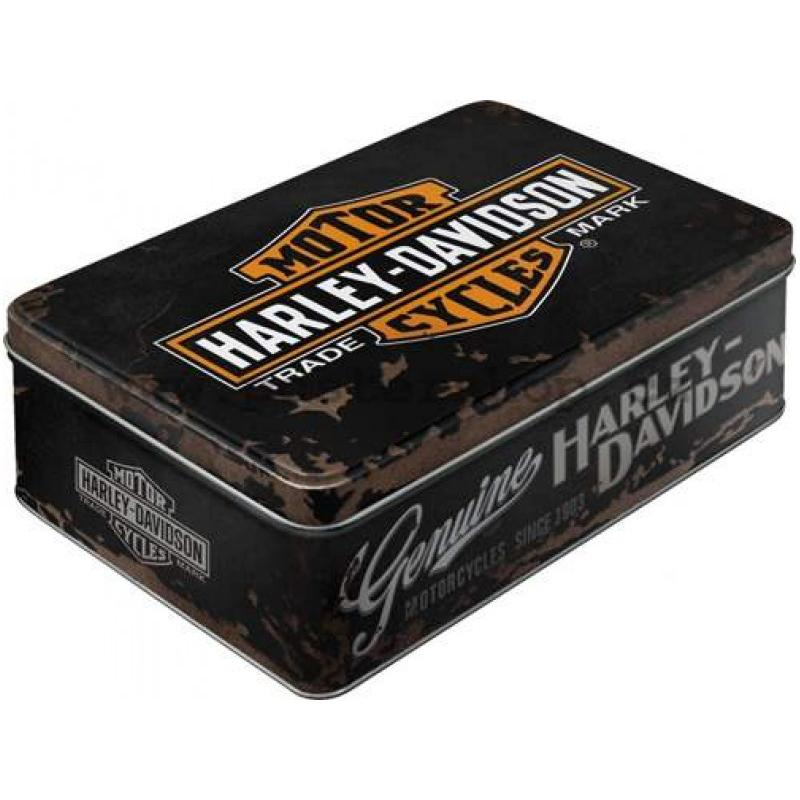 Harley-Davidson® Nostalgic Storage Tin Bar & Shield