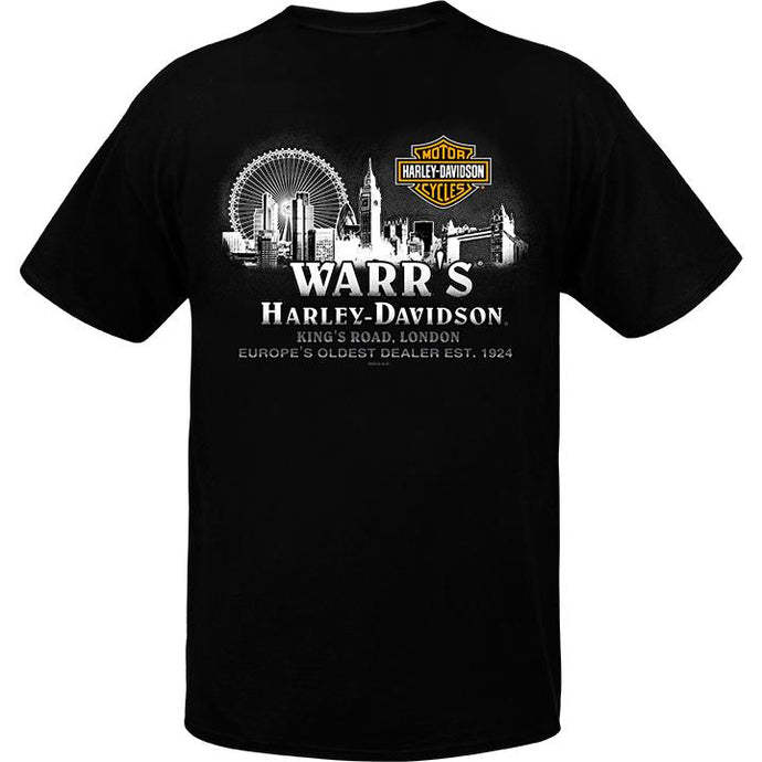 Warr's H-D® Men's Metropolis at Night Back T-Shirt