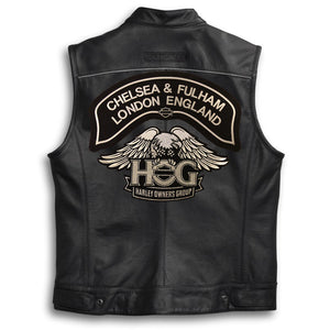 *New* H.O.G.® Chelsea & Fulham Chapter Rocker Patch - Silver