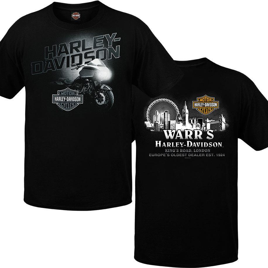 Warr's H-D® Men's Light Source and Metropolis at Night Tee