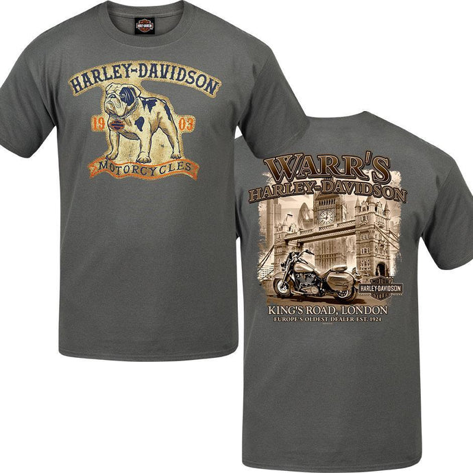 Warr's H-D®  Men's Fido and London in Sepia Tee
