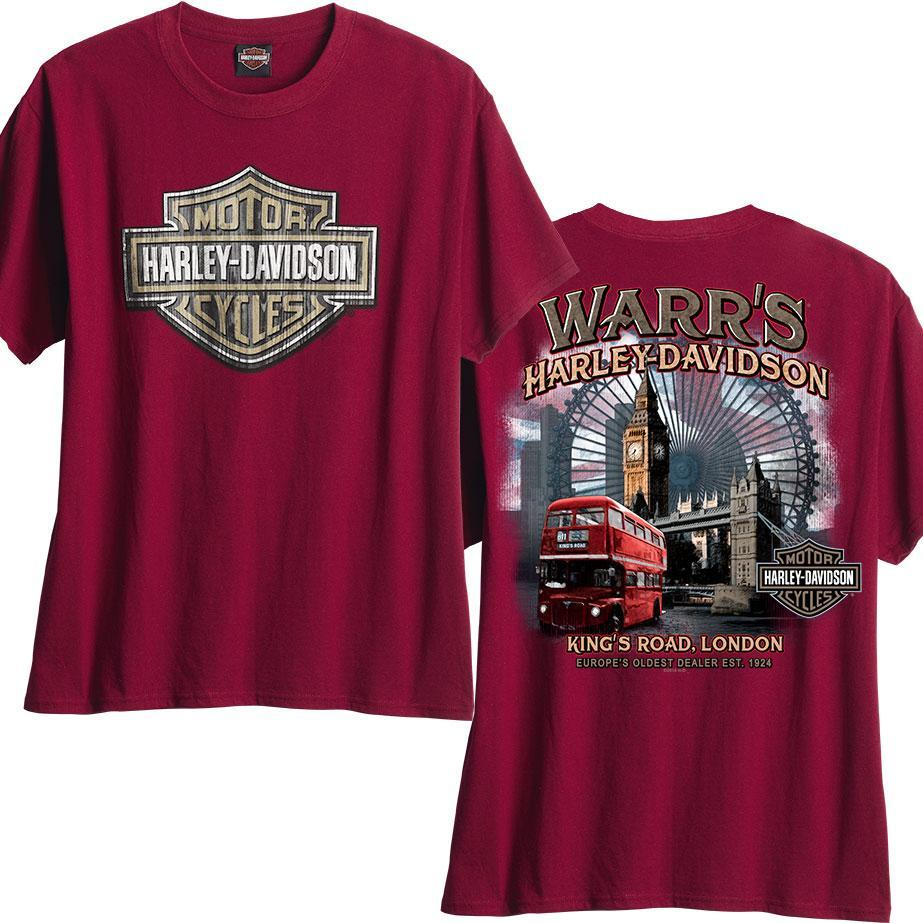 Warr's H-D® Men's Wood Shield and London Destination Tee