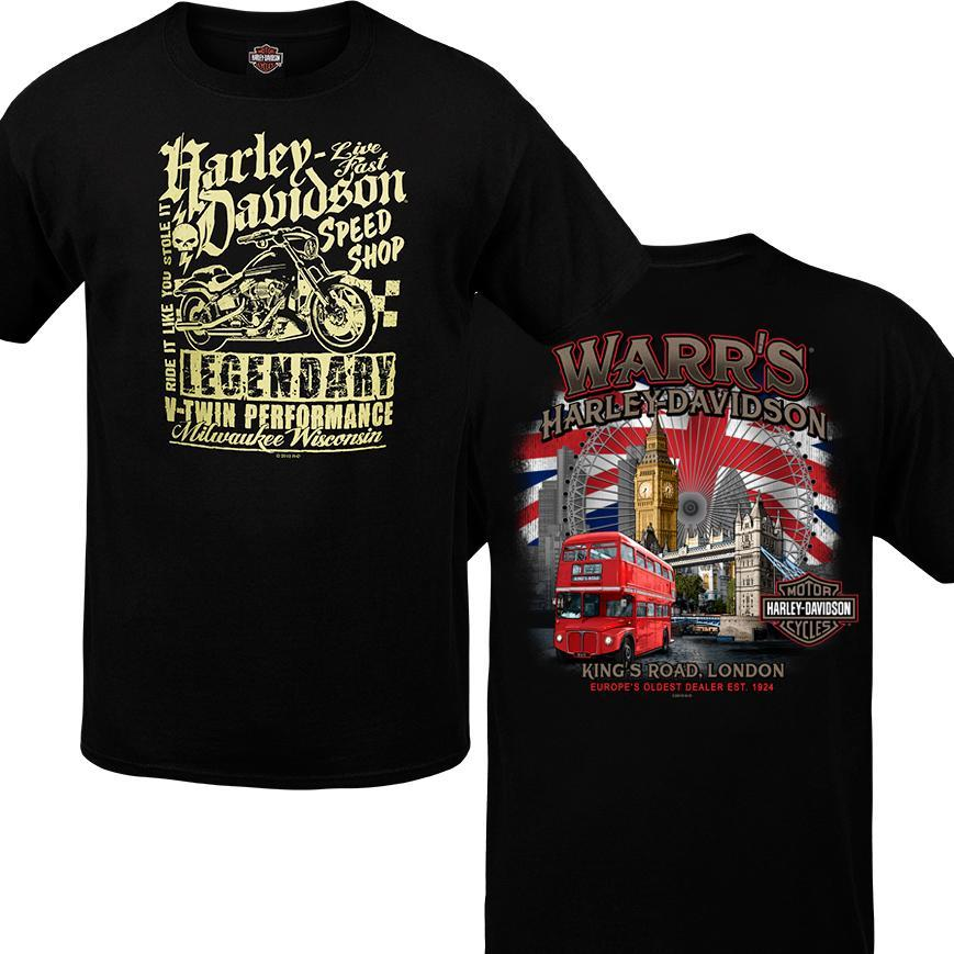 Warr's H-D® Men's Speed MC and London Destination Tee