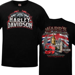 Warr's H-D® Men's Flame Steel and London Destination Tee