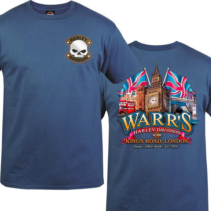 Warr's H-D® Men's G Badge and Big Ben London Tee