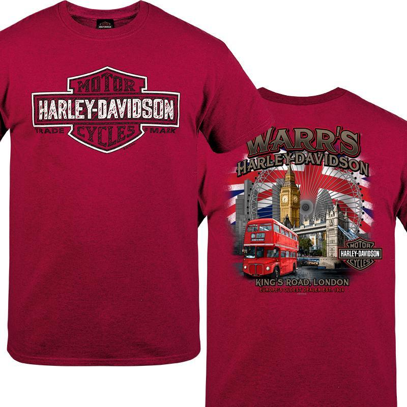 Warr's H-D® Men's Shield Slash and London Destination Tee