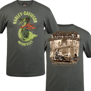 Warr's H-D® Men's Speed Venom and London in Sepia Tee