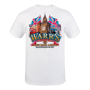 Warr's H-D® Men's Flag Day and Big Ben London Tee