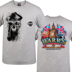 Warr's H-D® Men's Skull Pinup and Big Ben London Tee