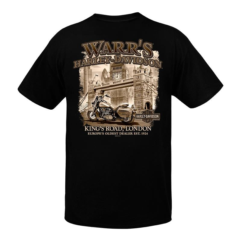 Warr's H-D® Men's London in Sepia Back T-Shirt