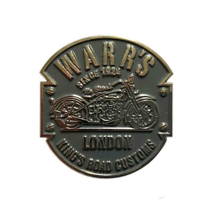 Warrs H-D® Kings Road Customs Pin Grey Metal Accessories