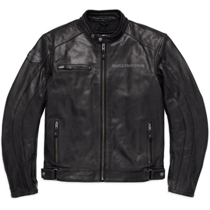 Harley-Davidson® Mens Reflective Skull Leather Jacket - 98122-17Em Riding Jackets