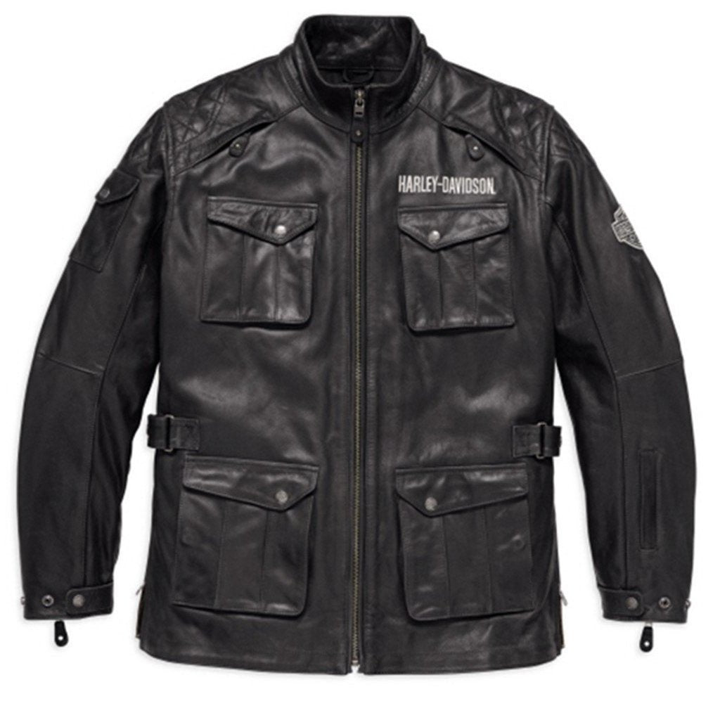 Harley-Davidson® Mens Messenger 3/4 Leather Jacket - 98123-17Em Riding Jackets