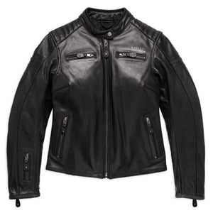 Harley-Davidson® Womens #1 Skull Leather Jacket - 98132-17Ew Riding Jackets