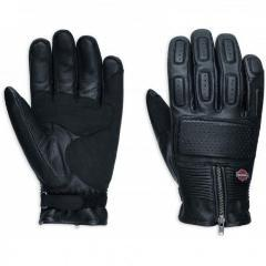Harley-Davidson® Mens Miler Leather Gloves - 98357-17Em