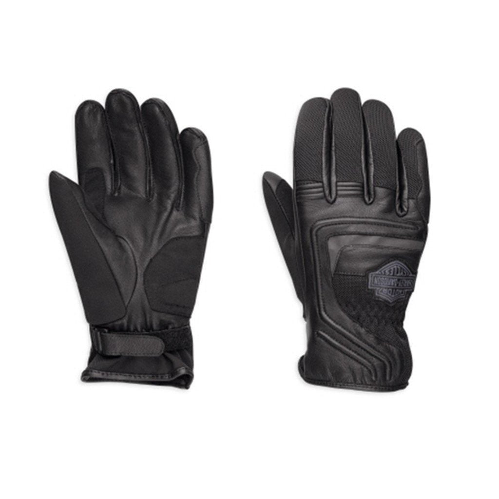Harley-Davidson® Mens Bar & Shield Logo Leather Mesh Gloves - 98362-17Em