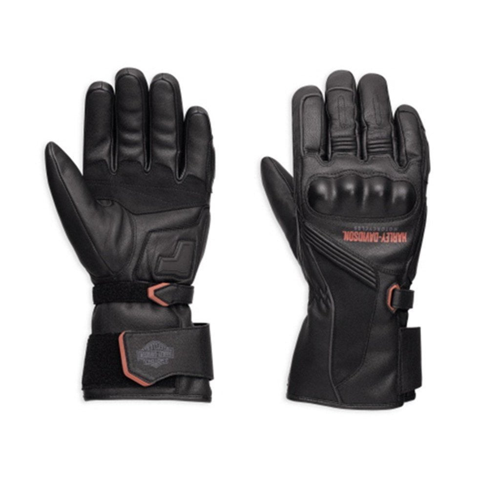 Harley-Davidson® Mens Messenger Leather Gauntlet Gloves - 98360-17Em