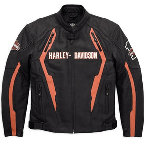 Harley-Davidson® Mens Enthusiast Leather Jacket - 98127-17Em Riding Jackets