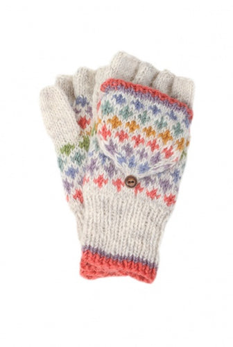 Granada Oatmeal Mittens - Bluebells of Bath