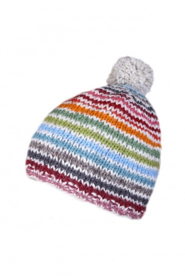Hoxton Stripe Bobble Hat - Bluebells of Bath