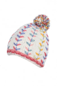 Kylemore White Bobble Hat - Bluebells of Bath