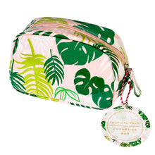 Tropical Palm Cosmetic Bag - Bluebells of Bath