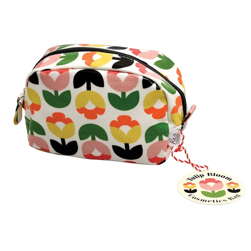 Tulip Bloom Cosmetic Bag - Bluebells of Bath