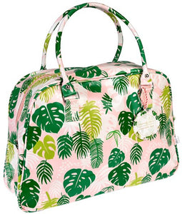 Tropical Palm Leaves Weekend Bag - Bluebells of Bath