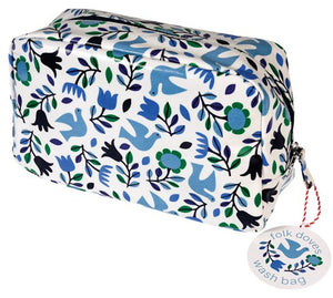 Folk Doves Wash Bag - Bluebells of Bath