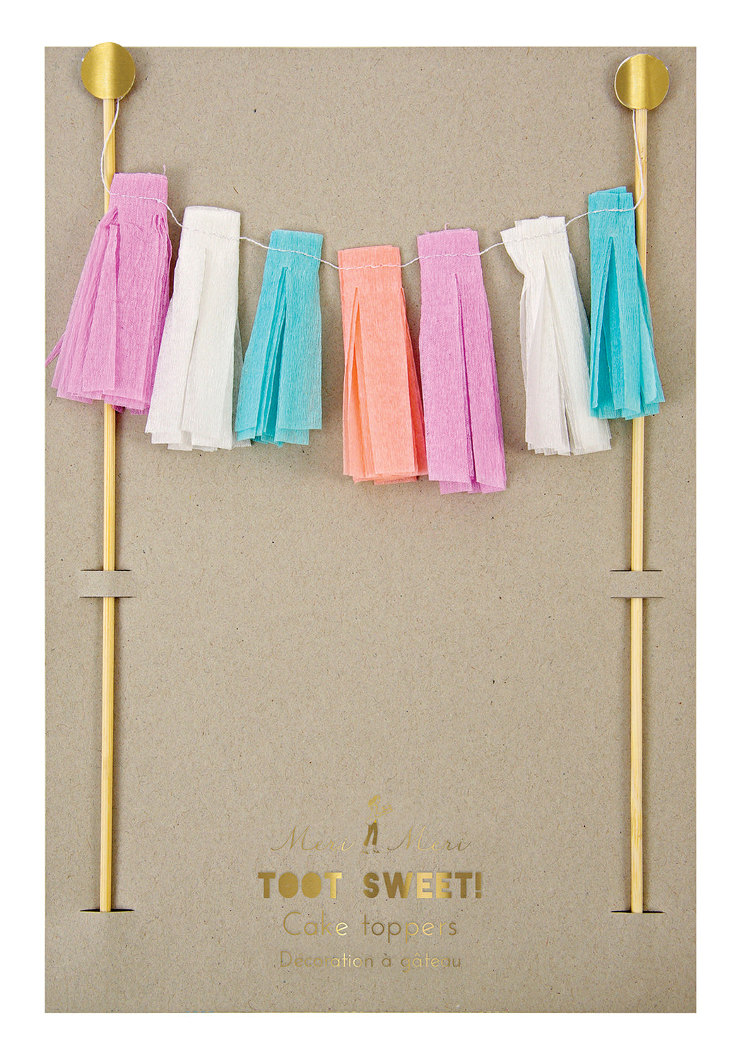 Tassel Garland Cake Topper - Bluebells of Bath