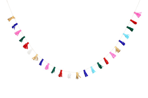 Mini Paper Tassel Garland - Bluebells of Bath