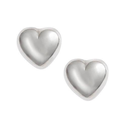 Heart Sterling Silver Stud Earrings - Bluebells of Bath