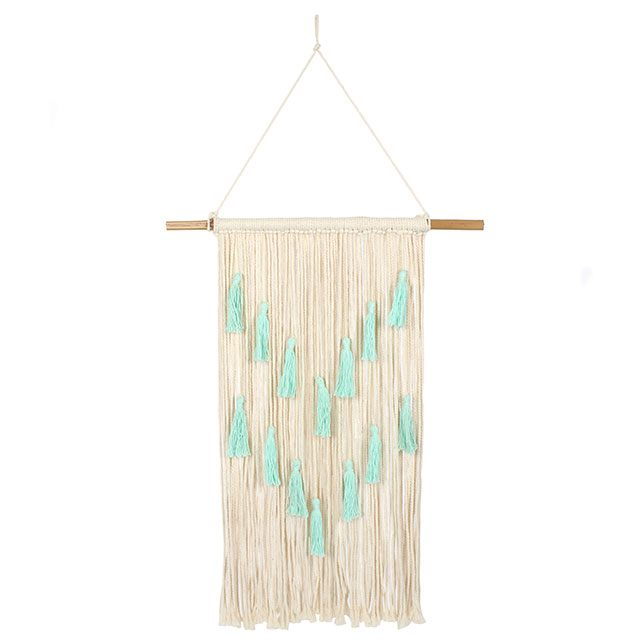 Aqua Tassels Macrame Wall Hanging - Bluebells of Bath