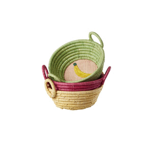 Kiwi Mini Raffia Basket - Bluebells of Bath