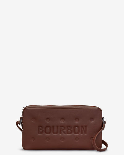 Bourbon Biscuit Leather Cross Body Bag - Bluebells of Bath