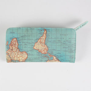 Vintage Map Purse - Bluebells of Bath