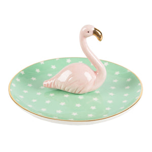 Flamingo Trinket Dish - Bluebells of Bath