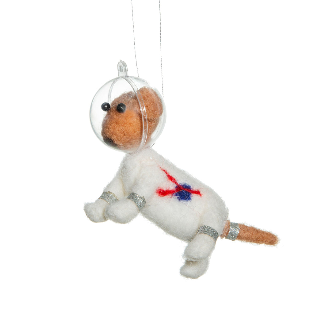 Outer Space Dog Felt Hanging Decoration bluebells of bath