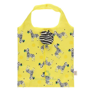 Ziggy Zebra Foldable Shopping Bag - Bluebells of Bath