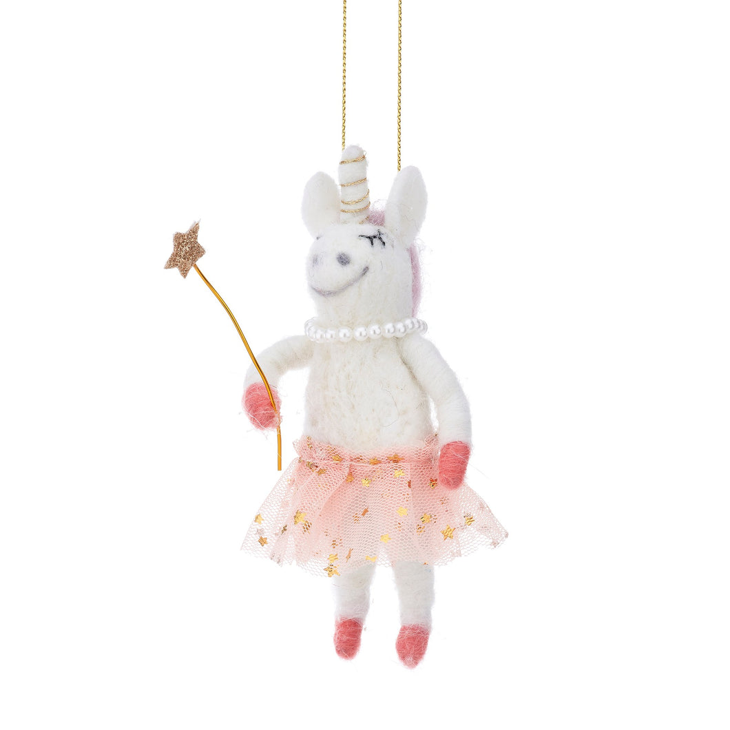Fairy Unicorn Felt Hanging Decoration bluebells of bath