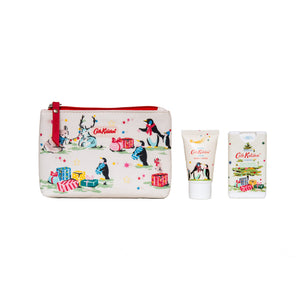 Festive Party Animals Cosmetic Pouch Set cath Kidston