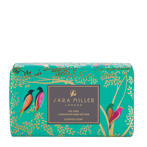 Sara Miller London Fig Leaf, Cardamom & Vetiver Scented Soap - Bluebells of Bath