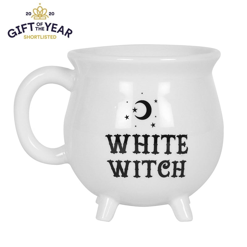 White Witch Cauldron Mug bluebells of bath