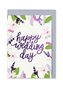 Happy Wedding Day Card - Bluebells of Bath