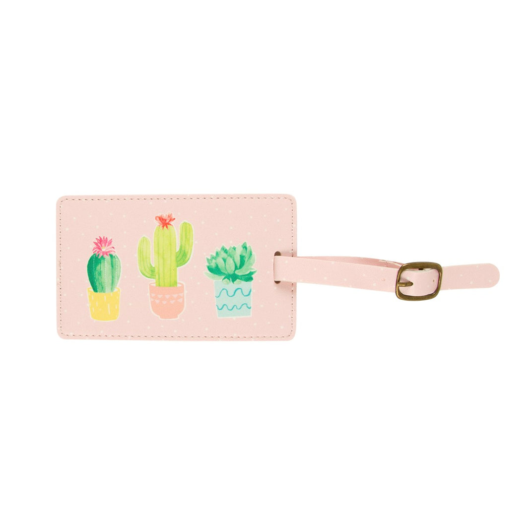 Cactus Luggage Tag - Bluebells of Bath