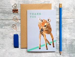 Deer Thank You Card - Bluebells of Bath
