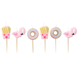 Fries Donut and Flamingo Party Candles - Bluebells of Bath