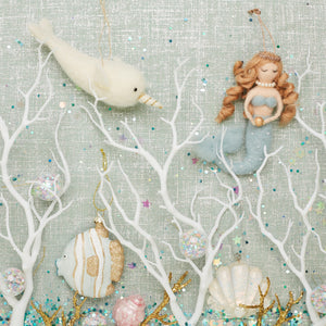 Ned the Narwhal Felt Hanging Decoration - Bluebells of Bath